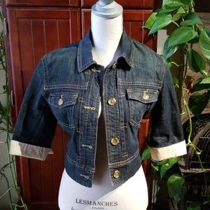 Banana Republic Cropped Jean Jacket